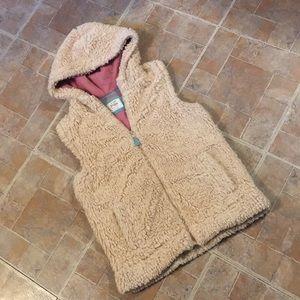 Mini Boden Sherpa vest size kids girls 13-14 year